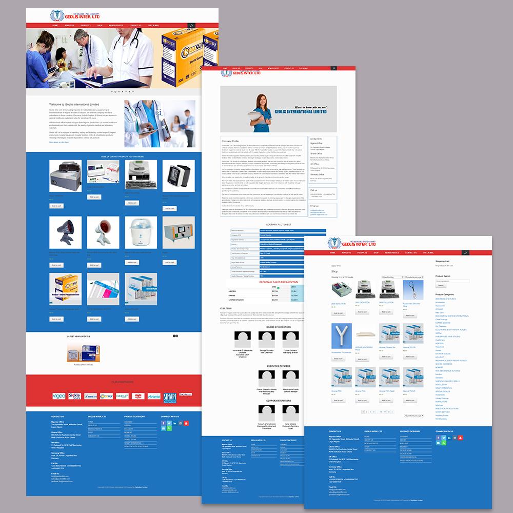 Website Design for Geolis International Limited