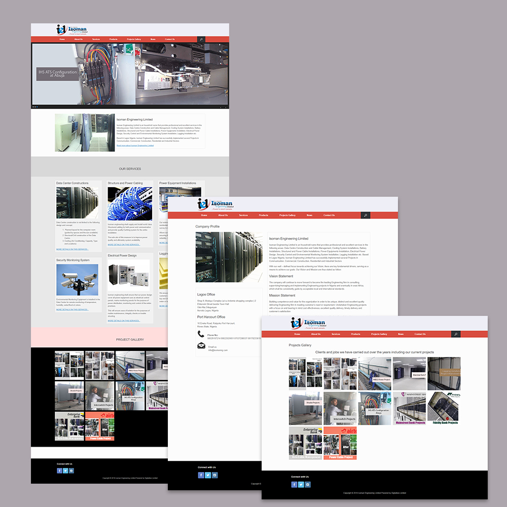 Website Design for Isoman Engineering Limited