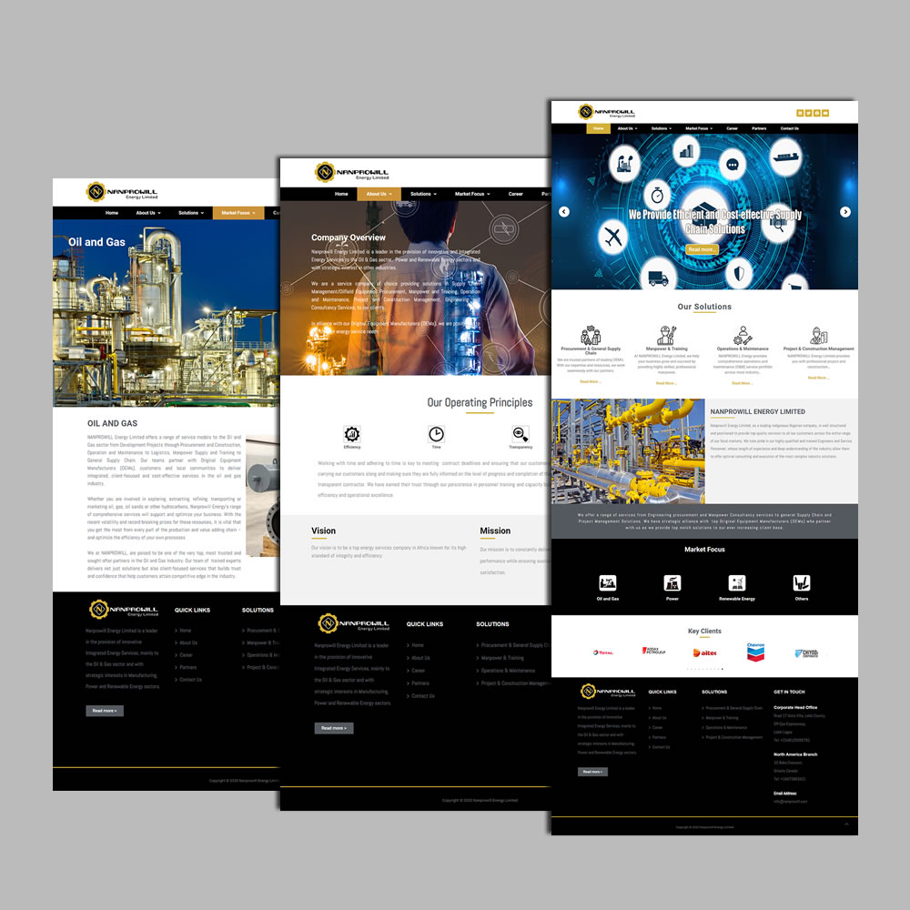 Website Design and Development for Nanprowill
