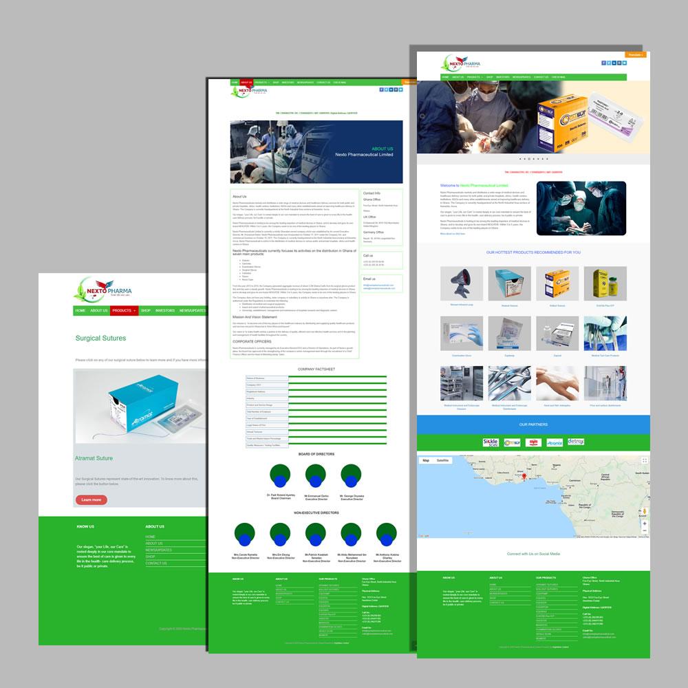 Website Design and Development for Nextopharmaceuticals