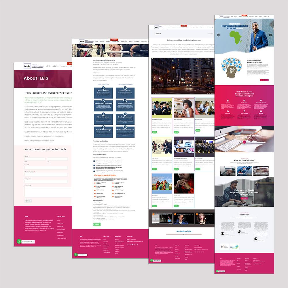 Website Design and Development for IEEIS