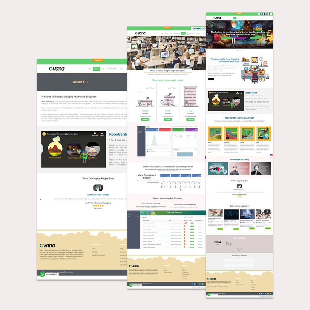 Website Design and Development for Ovana eLearning